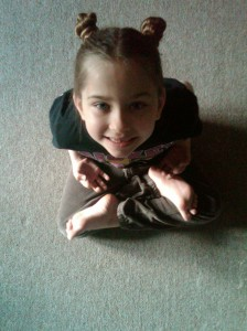 My mini yogini.